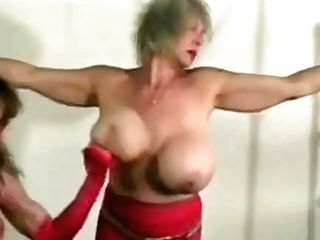 Superheroine Tied And Tit Punched