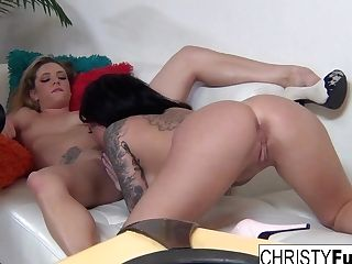 Christy Mack & Dahlia Sly In Christy And Dahlia On The Set - Christymack