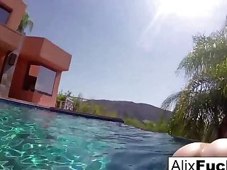 Alix Lynx  Cherie Deville In Huge-titted Blondes Alix  Cherie Go Skinnydipping - Alixlynx