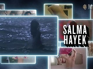 Salma Hayek Naked Bra-stuffers Compilation Flick