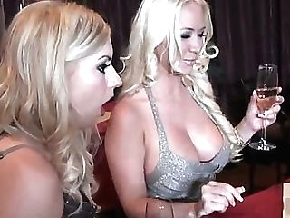 Lexi Belle Is By No Means A Cold Lady, So It Wont Cost Molly Cavalli Much Effort To Tempt Her  Particularly With A Cleavage Like That! See These Kitti