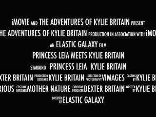 Princess Leia Meets Kylie Britain