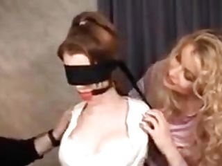 Women In Office Clothes, High High-heeled Shoes And Pantyhose Restraint Bondage