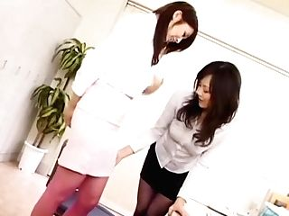 Amazing Japanese Model Nana Saeki, Natsumi Horiguchi In Best Fingerblasting, Girl-on-girl Jav Clip