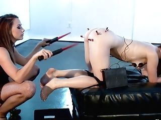Ballerina Gets Electrical Fucked!