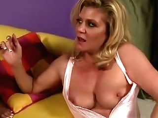 Enticing Blonde Mummy With Big Tits Engages In Girl/girl Fuck-fest With A Ultra-cute School Stunner