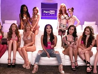 Pornhub Games: S01e02 Rail'em - Hosted By Asa Akira & Lauren Philips
