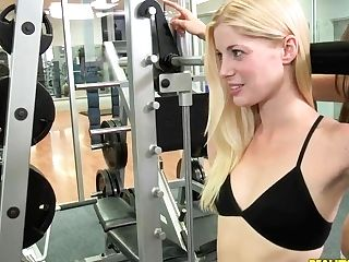 Lesbos Charlotte Stokely,  Malena Morgan In The Gym