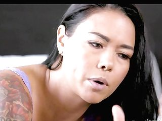 Black-haired Dana Vespoli And Georgia Jones Have A Lot Of Sexual Energy To Spend In Doll-on-damsel Act