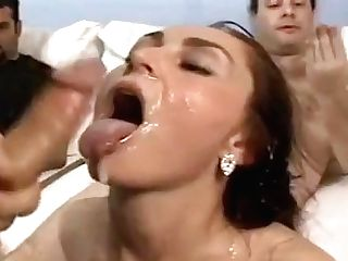 Five Lady Lezzy Fucky-fucky Orgy With Rubber Stiffys